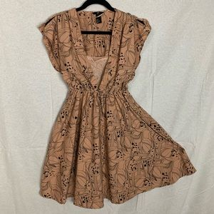 50s style Vintage Inspired Dress w/ Mock Lace Cami